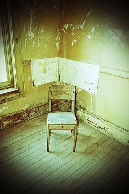 Photograph - A Small Chair by Holly Blunkall