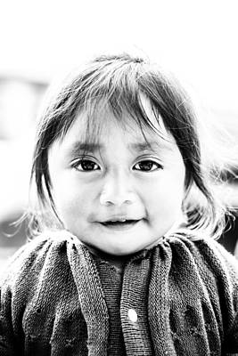 Photograph - A Small Guatemalam Life - Black And White by Shelby  Young