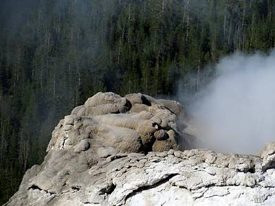 A Smoking Man. Yellowstone Hot Springs Art Print