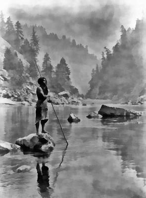 Indian River Digital Art - A Smoky Day At The Sugar Bowl by Edward S Curtis