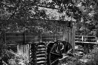 Grist Mill Photograph - A Smoky Mountain Mill  by Mel Steinhauer