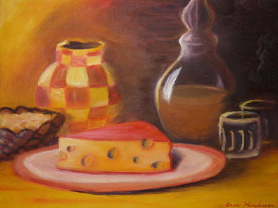 A Snack With Cheese Art Print by Anna  Henderson