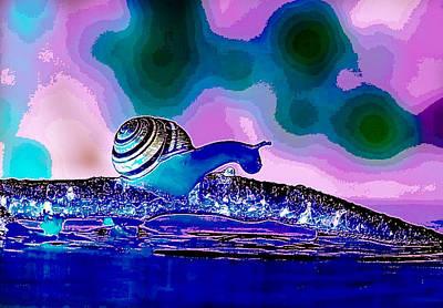 Digital Art - A Snails Face by Karen Buford