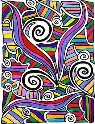 Thought Drawing - A Snail's Playground by Alison Cloninger