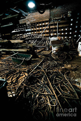 Abandoned Digital Art - A Snake Pit Of Wires by Amy Cicconi