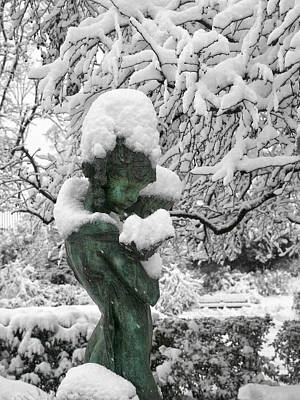 Central Park Photograph - A Snow Angel by Cornelis Verwaal