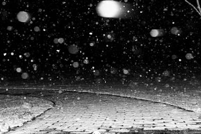 Photograph - A Snowy Night by Hannah Miller