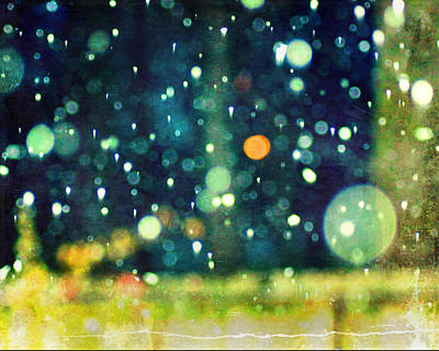 A Snowy Night Art Print by Suzanne Barber