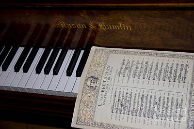 Music Score Photograph - A Sonata By Ludwig by Al Bourassa