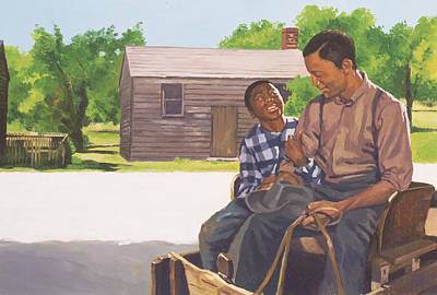 African-american Painting - A Sons Comfort by Colin Bootman