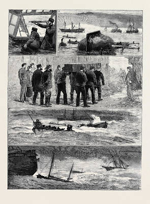 A South Coast Gale 1. Watching Ward Room Of H.m. Training Art Print
