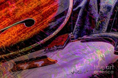 A Southern Combination Digital Banjo And Guitar Art By Steven Langston Art Print by Steven Lebron Langston
