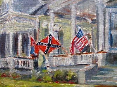 Natchez Painting - A Southern Home by Susan E Jones