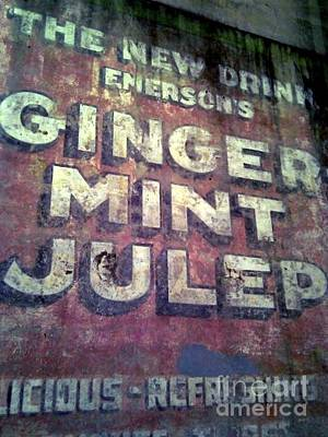Mint Julep Hand Painted Sign In New Orleans Louisiana Art Print