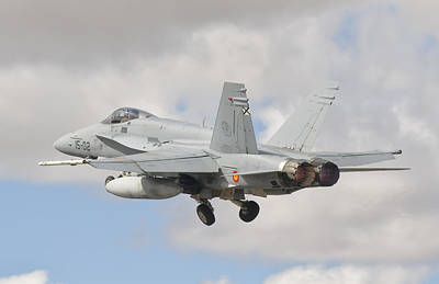 A Spanish Air Force Fa-18c During Tlp Art Print