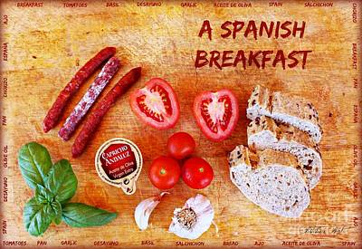 Garlic Photograph - A Spanish Breakfast by Clare Bevan