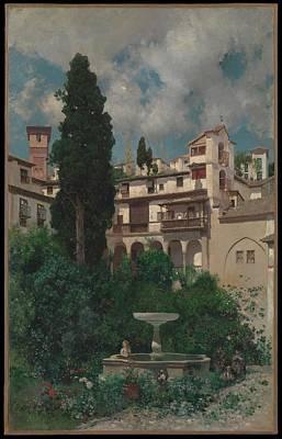 N.y Painting - A Spanish Garden by Mart�n Rico y Ortega