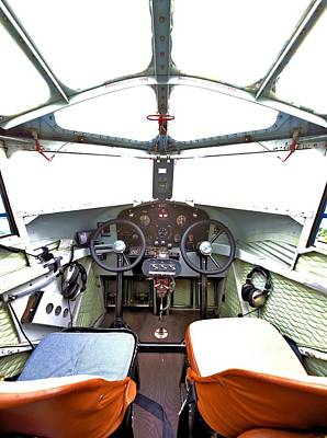 Photograph - A Spartan Cockpit by Gordon Elwell