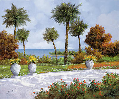 Shadow Painting - A Spasso Tra Le Palme by Guido Borelli