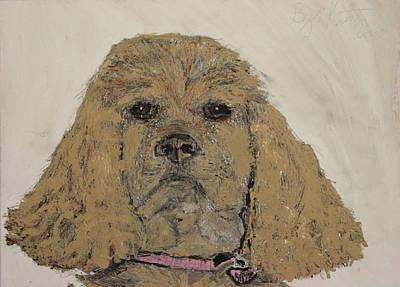Cocker Spaniel Drawing - A Special Friend by Katrina Ricci