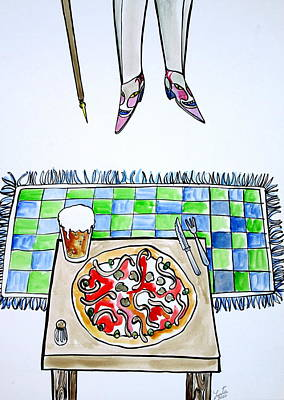 Pizza Painting - A Special Supper by Fabrizio Cassetta