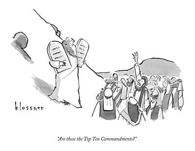 A Spectator Asks Moses Art Print