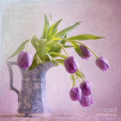A Spill Of Tulips Art Print by Betty LaRue