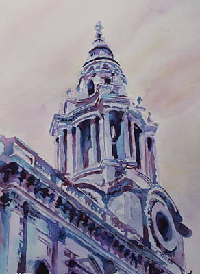 Saint Christopher Painting - A Spire Of Saint Paul's by Jenny Armitage