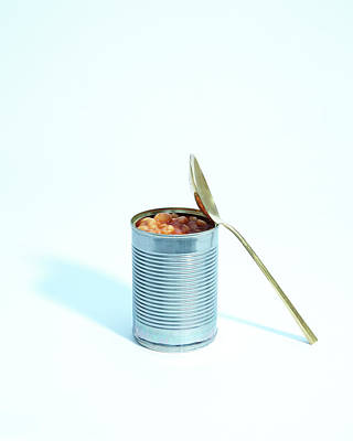 Open Photograph - A Spoon Leans Against An Open Tin Of by Felicity Mccabe
