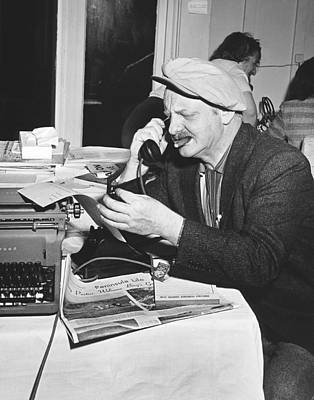 Crosby Photograph - A Sports Reporter At Work by Underwood Archives