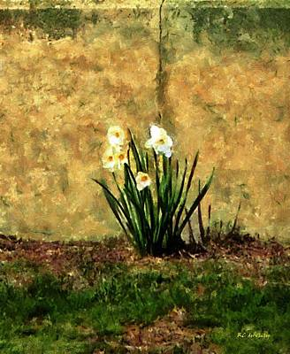 Daffodils Painting - A Spot Of Spring by RC DeWinter
