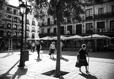 A Square In Toledo - Spain Art Print