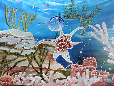Painting - A Squid Named Sid by Dianna Lewis