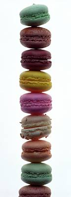 Cooking Photograph - A Stack Of Macaroons by Romulo Yanes