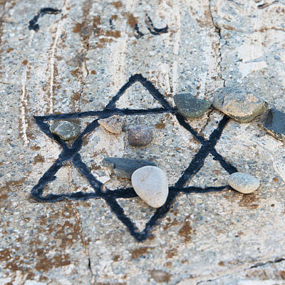 Hexagram Photograph - A Star Of David Etched And Painted by Keith Levit