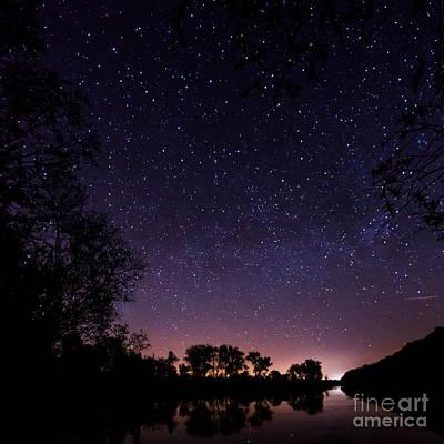 a starry night at the Inn Art Print by Hannes Cmarits