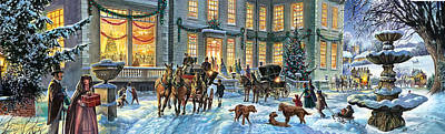 Stately Homes Photograph - A Stately Christmas by Steve Crisp