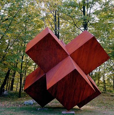 Antoni Photograph - A Steel Sculpture In A Garden by William Grigsby