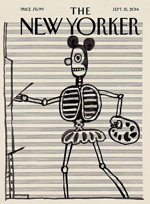 Painting - A Steinberg Mouse Character Painting On Music by Saul Steinberg