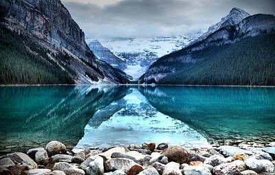 Photograph - A Still Day At Lake Louise by Tara Turner