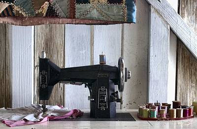 The Sewing Room Photograph - A Stitch In Time by Chrystyne Novack