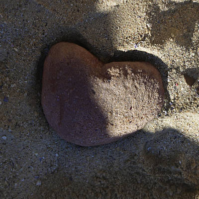 Photograph - A Stone Heart by Xueling Zou