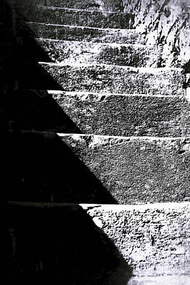 Photograph - A Stone Staircase by Selke Boris