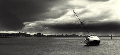 Photograph - A Storm Approaches - Bw by Nicholas Evans