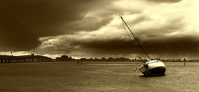 Photograph - A Storm Approaches - Sepia by Nicholas Evans