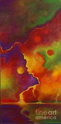 Art Print featuring the painting A Storm Called Jimi by Alison Caltrider