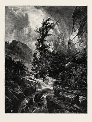 A Storm In Utah, Usa Art Print by English School