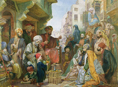 Barter Painting - A Street In Cairo by John Frederick Lewis