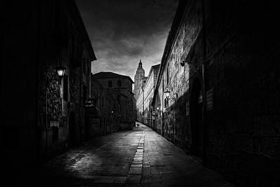 Amp Photograph - A Street In Salamanca by Jose C. Lobato