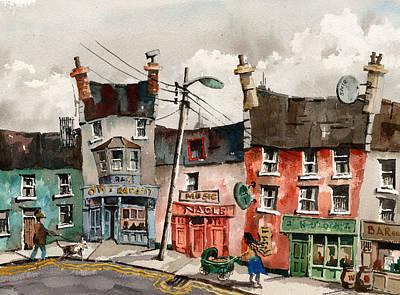 A Street Of Pubs Art Print
